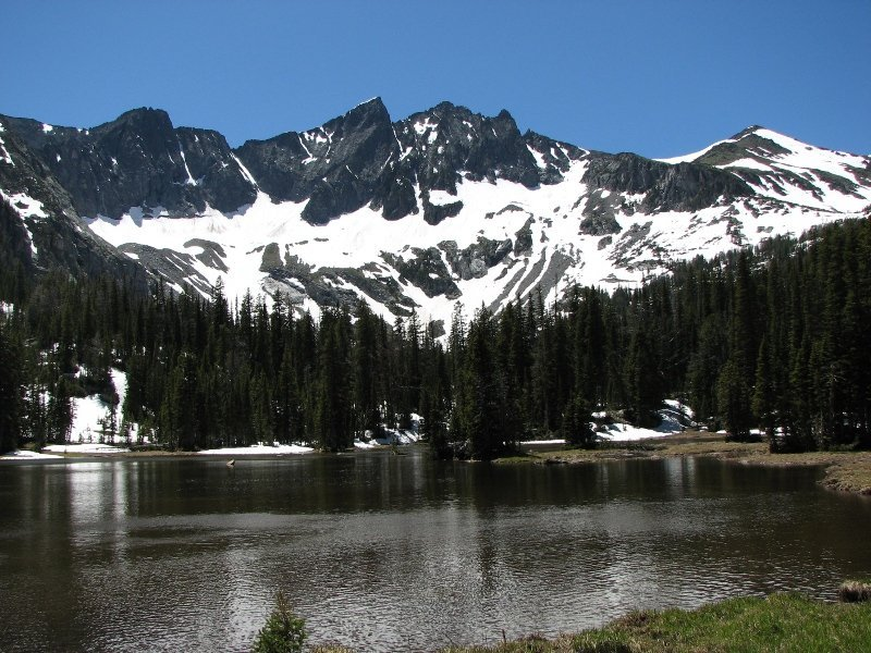 Lower Twin Lake in the Crazy Mountains