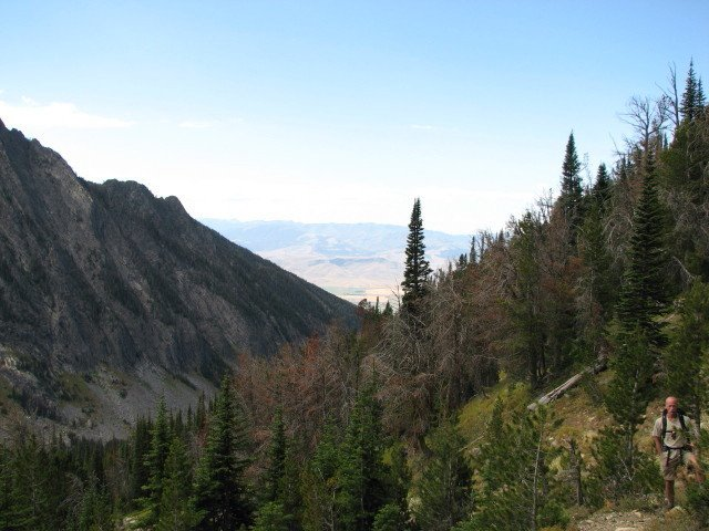Photo of the view ferom along the Deep Creek Trail