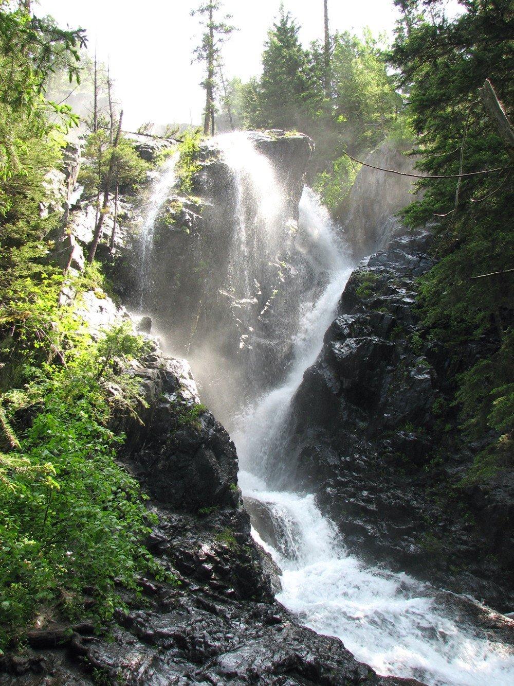 Pine Creek Falls and Pine Creek Lake - Livingston, MT - A ...