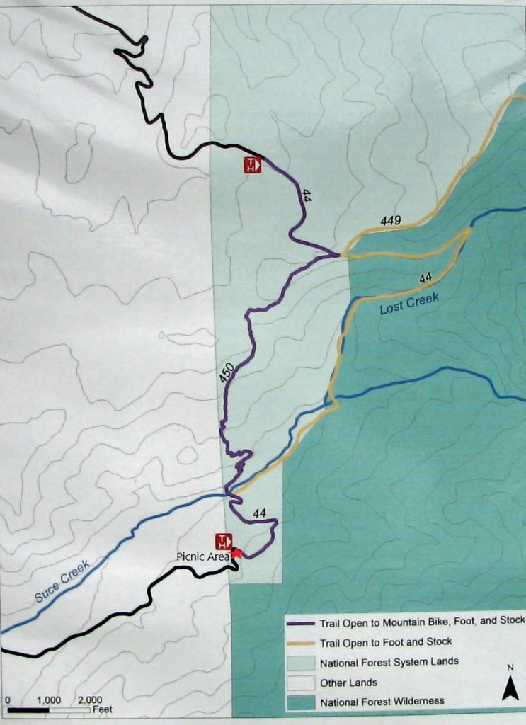 Map of Suce Creek trails