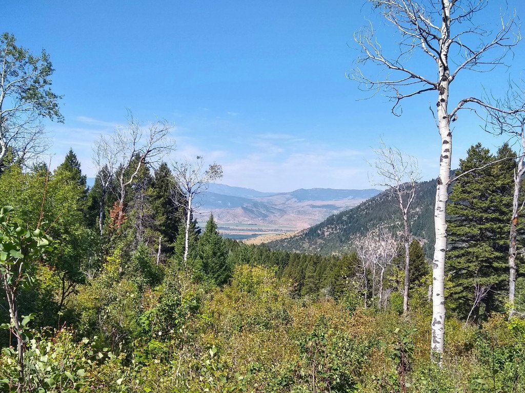 Looking into Paradise Valley from the lower end of North Fork Deep Creek trail