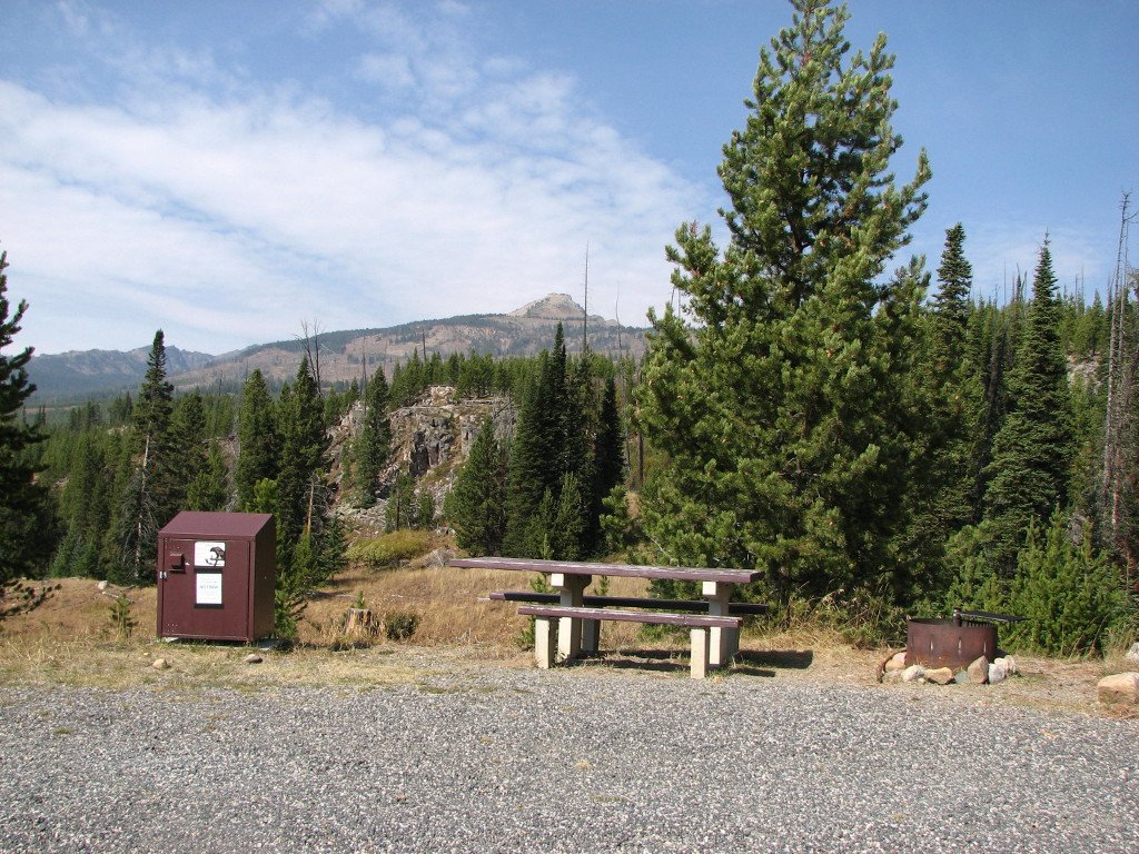 Typical campsite at Colter Campground