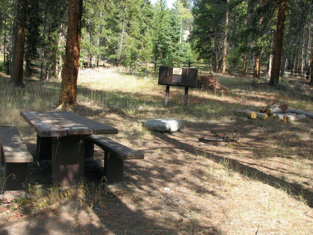 Typical campsite in Lake Creek Campground