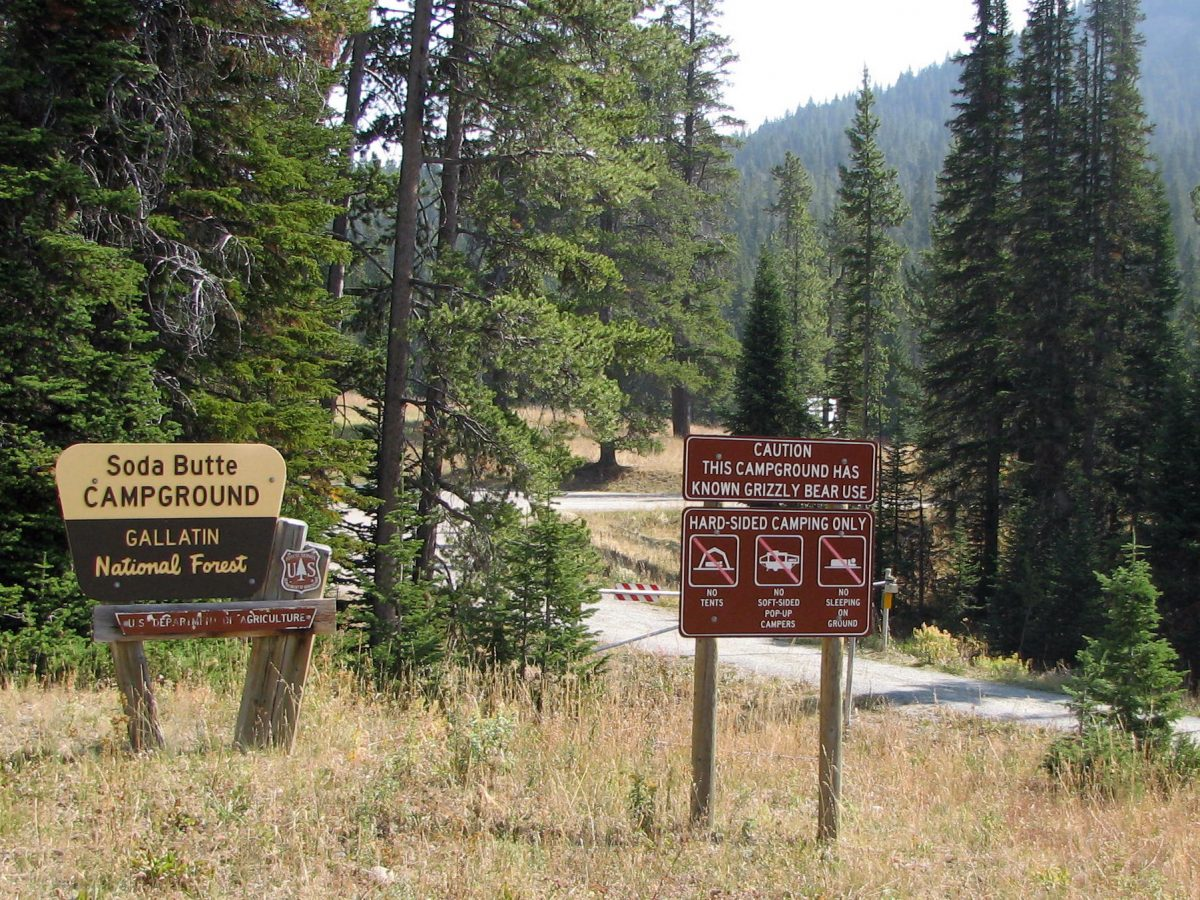 Entrance to Soda Butte Campground