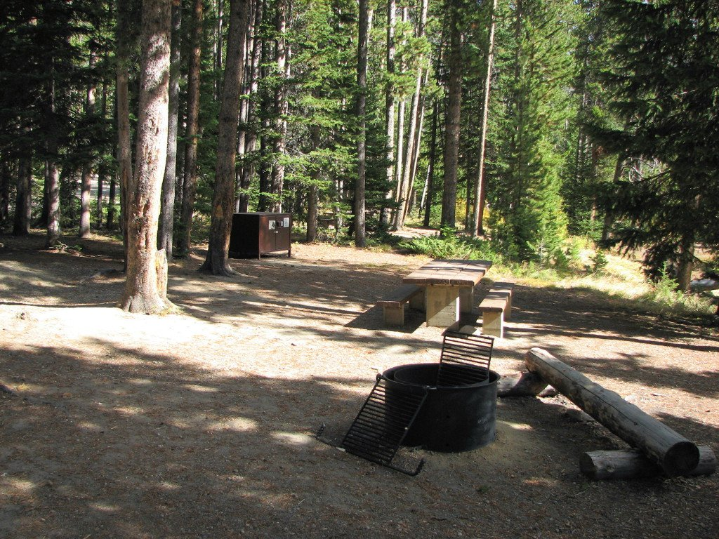Typical campsite in Cascade Campground