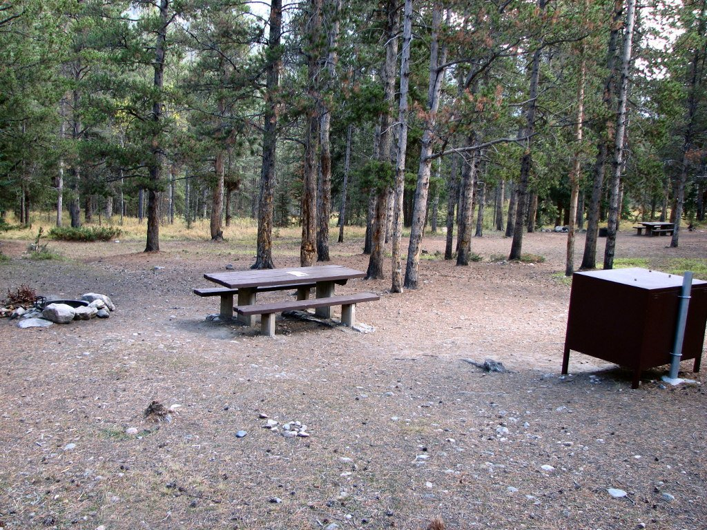 Typical campsite in the M-K campground
