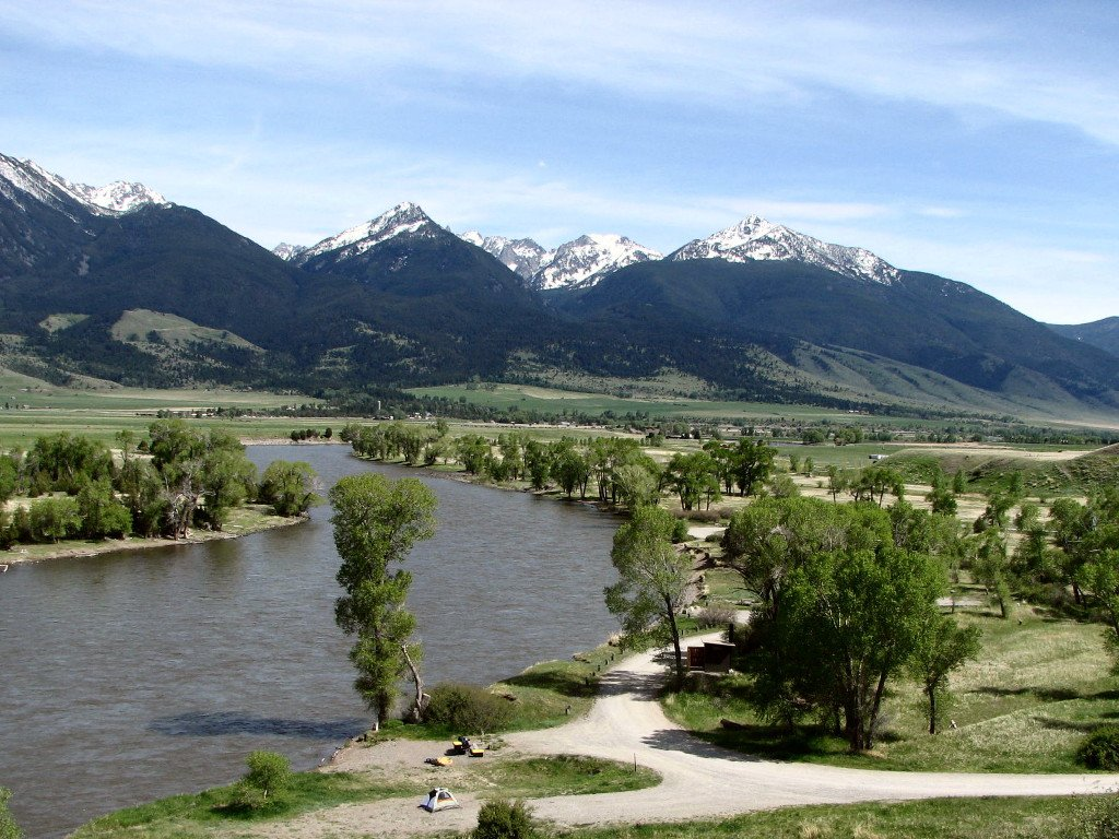 View of Absaroka Mountains from Mallards Rest