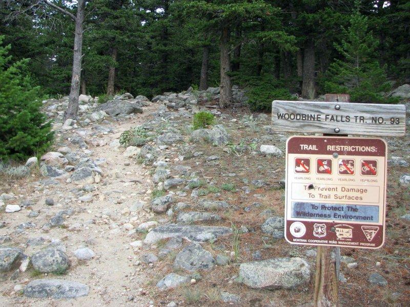 Woodbine Falls trailhead